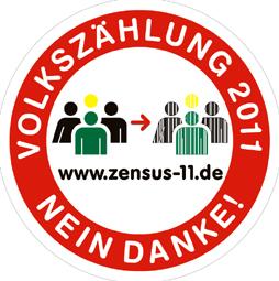 Vorschau des Volkszählung 2011- Nein Danke! - Aufklebers